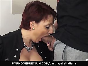 casting ALLA ITALIANA Mature ginger-haired ass humped deep