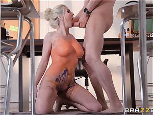 Christie Stevens arched over and boinked doggie