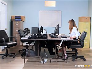 dirty office honey Dillion Harper gets shafted at work