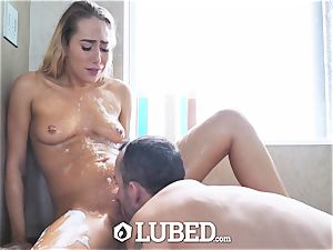lubricated douche ravage and facial with Carter Cruise