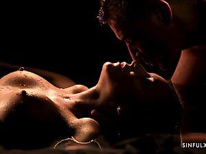 sensuous rubdown turns into a sensuous shag